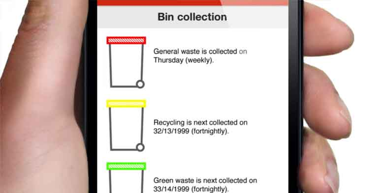 My Local Services App Kerbside collection
