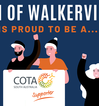 Town of Walkerville is proud to be a COTA South Australia Supporter