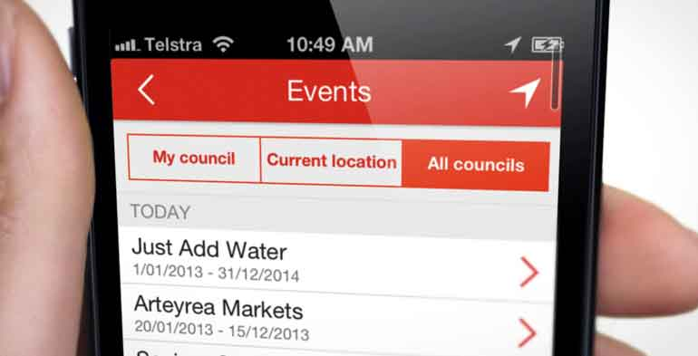 My Local Services App Events